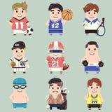 De inzameling van de sportmens royalty-vrije illustratie