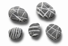 De inzameling van stenen stock foto