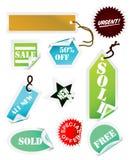 De inzameling van stickers Stock Afbeelding