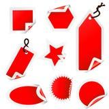 De inzameling van stickers Royalty-vrije Stock Afbeeldingen