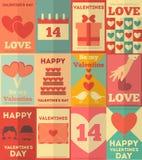 De inzameling van valentijnskaartenaffiches Royalty-vrije Stock Afbeeldingen