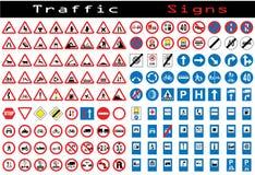 De inzameling van verkeersteken Stock Fotografie