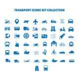 De Inzameling van vervoerpictogrammen royalty-vrije illustratie