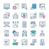 De Inzameling van videospelletjepictogrammen vector illustratie