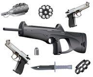 De inzameling van wapens Stock Fotografie
