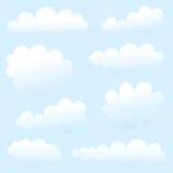 De inzameling van wolken Stock Fotografie