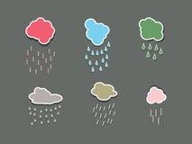 De inzameling van wolken. Stock Fotografie