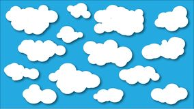 De inzameling van wolkenpictogrammen Wolkenvormen Vector royalty-vrije illustratie