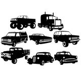 De inzamelingen van de auto voor uw ontwerp royalty-vrije illustratie