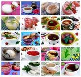 De inzamelingen van de drank: 20 beelden Stock Foto