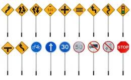 De inzamelingen van verkeersteken stock illustratie