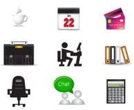 De inzamelingsreeks van het bureau materiële pictogram Royalty-vrije Stock Afbeelding