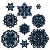 De inzamelingstekens van de sneeuwvlokwinter Stock Fotografie