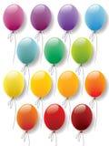 De inzamelingsvector van ballons Vector Illustratie