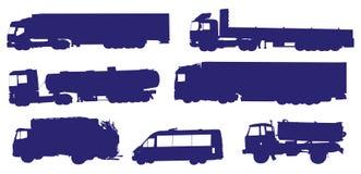 De inzamelingsvector van vrachtwagens Stock Fotografie