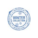 De inzamelingszegel van de winter royalty-vrije illustratie