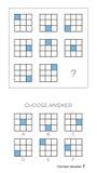 De IQtest kiest antwoord stock illustratie