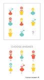 De IQtest kiest antwoord vector illustratie