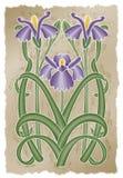 De Iris van Nouveau Royalty-vrije Stock Afbeeldingen