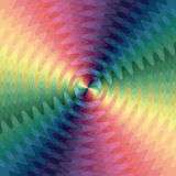 De iriserende Golvende Lijnen snijden in het Centrum De Visuele Illusie van Beweging stock illustratie
