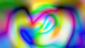 De iriserende holografische veelkleurige achtergrond, rimpelingen golvende oppervlakte, vat onscherpe snelle film samen vector illustratie