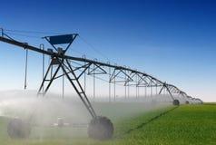 De Irrigatie van het gewas Stock Foto