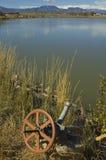 De irrigatiewatervoorziening van het landbouwbedrijf Stock Foto's