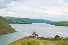 De Irtysh-rivier, Kazachstan Stock Foto
