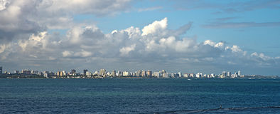 De Isla Verde ao EL Morro, San Juan, Porto Rico Imagem de Stock Royalty Free