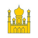 De Islamitische moskee isoleerde teken Het ornament van het oosten Moslimsymbool Vector stock illustratie