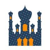 De Islamitische moskee isoleerde teken Het ornament van het oosten Moslimsymbool Vector royalty-vrije illustratie