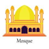De Islamitische Moskee/Masjid voor Moslim bidt pictogram Royalty-vrije Illustratie
