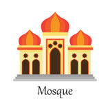 De Islamitische Moskee/Masjid voor Moslim bidt pictogram Stock Illustratie