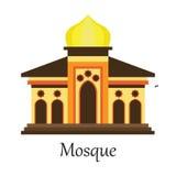 De Islamitische Moskee/Masjid voor Moslim bidt pictogram Vector Illustratie