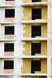 De isolatie van de hitte in bouw Stock Afbeelding