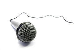 De isolatie van de microfoon Stock Fotografie