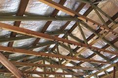 De isolatie van het dak Stock Foto