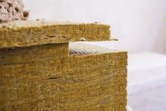 De isolatie van de steenwol stock afbeelding