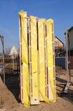 De isolatiepanelen van het kaderhuis De Comités van het houtkader, Structurele Geïsoleerde Comités, Slokjes stock foto's