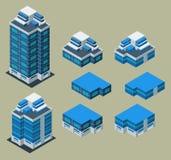 De isometrische bouw Royalty-vrije Stock Afbeelding