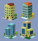 De isometrische bouw royalty-vrije illustratie