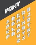 De isometrische 3d reeks van de typedoopvont Royalty-vrije Stock Fotografie