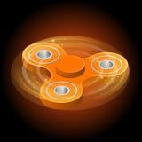 De isometrische 3d vector een sinaasappel friemelt spinner of handspinner Friemel stuk speelgoed voor verhoogde nadruk, spannings Stock Foto's