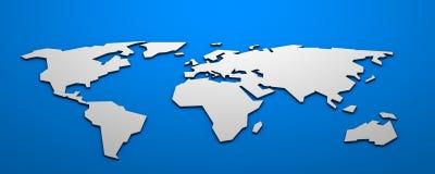 De isometrische kaart van de Wereld Stock Fotografie