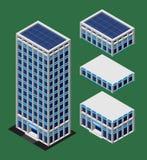 De isometrische moderne bouw Stock Afbeelding