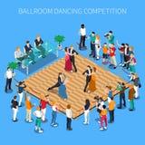De Isometrische Samenstelling van de ballroom dansenconcurrentie royalty-vrije illustratie