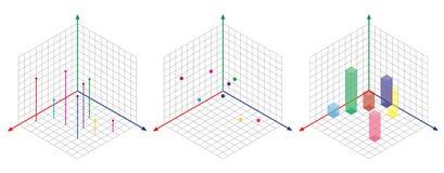 De isometrische tekening wordt een degreesangle dertig toegepast op zijn kanten De kubus tegenover Isometrische Netvector vector illustratie