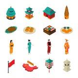 De Isometrische Toeristische Reeks van China royalty-vrije illustratie