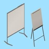 De isometrische vector van de tikgrafiek whiteboard Stock Fotografie