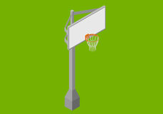 De isometrische vlakke vector van de basketbalrugplank Royalty-vrije Stock Afbeeldingen